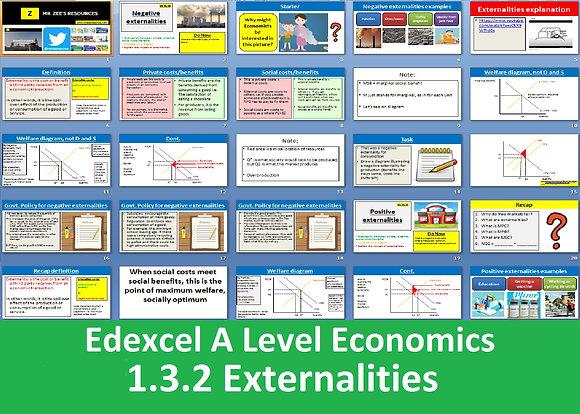 1.3.2 Externalities - Theme 1 Edexcel A Level Economics