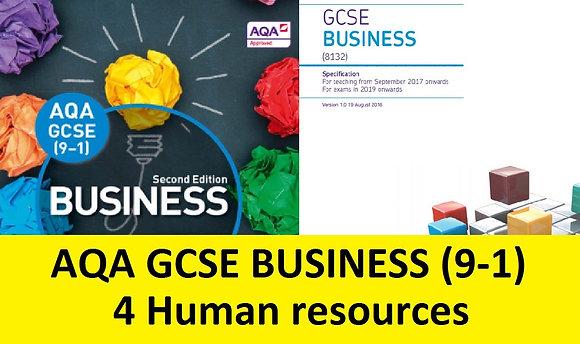 AQA GCSE Business 9-1 - 4 Human resources