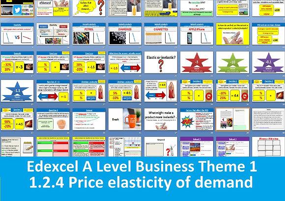 1.2.4 Price elasticity of demand - Theme 1 Edexcel A Level Business