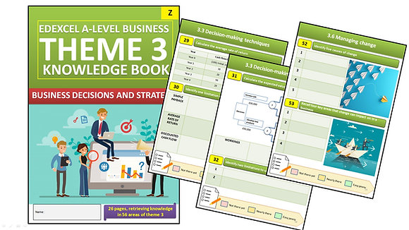 Edexcel A Level Business Theme 3 Interactive Knowledge Book