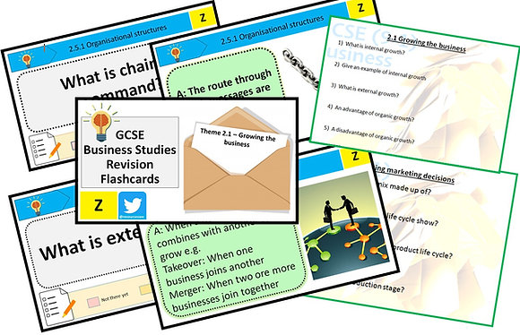 Theme 2 Building a business -Knowledge revision flashcards