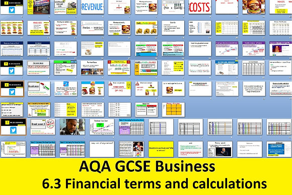 AQA GCSE Business 9-1 - 6.3 Financial terms and calculations