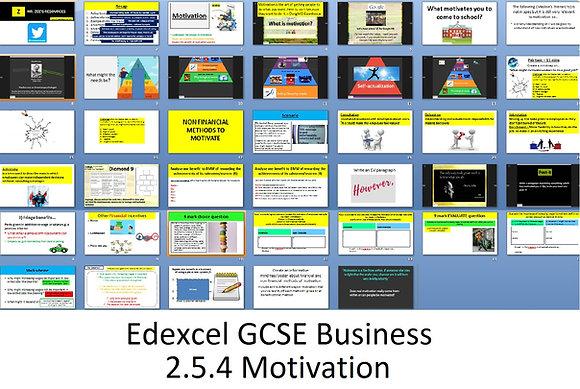 Edexcel GCSE Business - Theme 2 - 2.5.4 Motivation