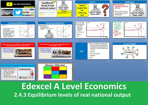 2.4.3 Equilibrium levels of real national output - Theme 2 Edexcel A Level Econ