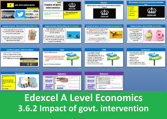 3.6.2 Impact of government intervention - Theme 3 Edexcel A Level Economics