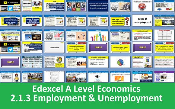 2.1.3 Employment and unemployment - Theme 2 Edexcel A Level Economics