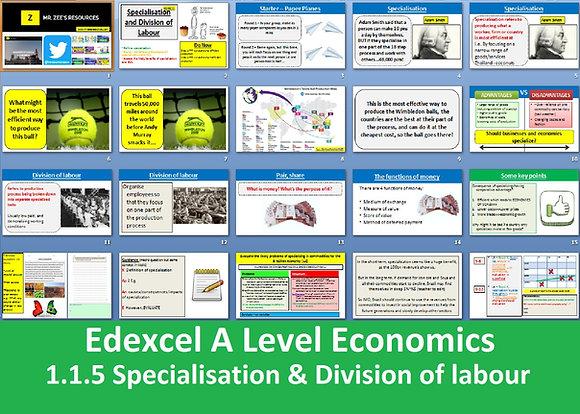 1.1.5 Specialisation & Division of labour - Theme 1 Edexcel A Level Economics