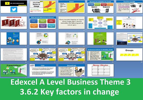 3.6.2 Key factors in change - Theme 3 Edexcel A Level Business