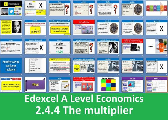 2.4.4 The multiplier - Theme 2 Edexcel A Level Economics
