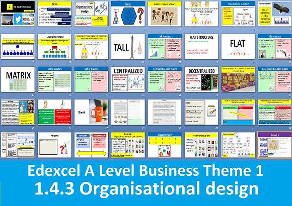 1.4.3 Organisational design - Theme 1 Edexcel A Level Business