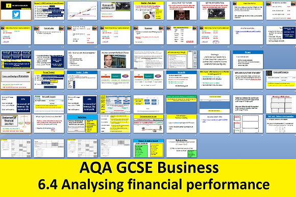 AQA GCSE Business 9-1 - 6.4 Analysing the financial performance of a business