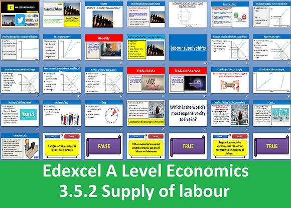 3.5.2 Supply of labour - Theme 3 Edexcel A Level Economics