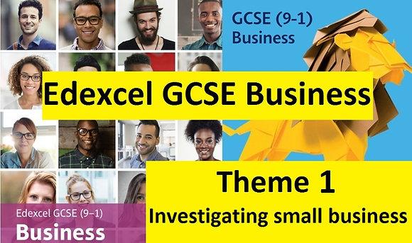 Edexcel GCSE Business - Theme 1 (FULL bundle updated for 2021)