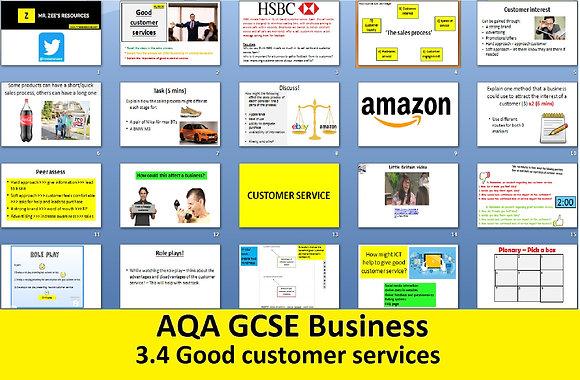 AQA GCSE Business 9-1 - 3.4 Good customer services