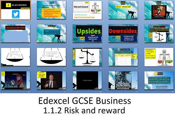 Edexcel GCSE Business - Theme 1 - 1.1.2 Risk and reward