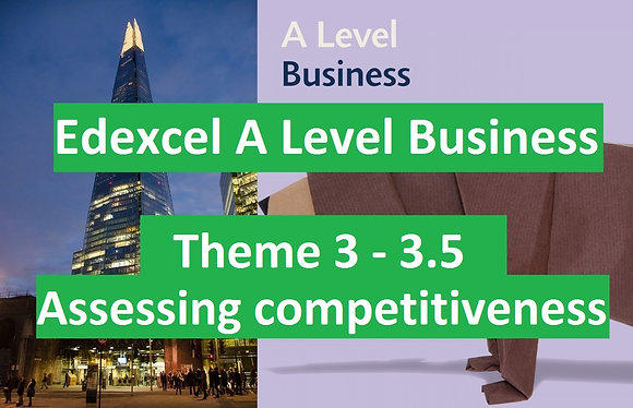 Edexcel A Level Business Theme 3 - 3.5 Assessing competitiveness