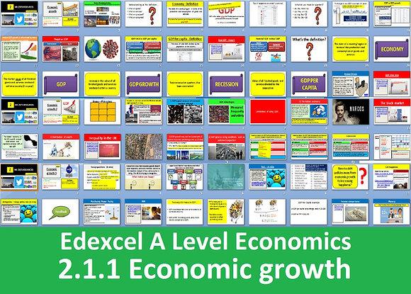 2.1.1 Economic growth - Theme 2 Edexcel A Level Economics