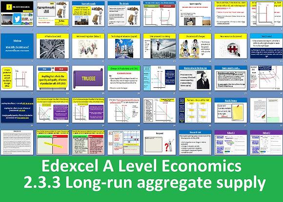 2.3.3 Long-run aggregate supply (LRAS) - Theme 2 Edexcel A Level Economics