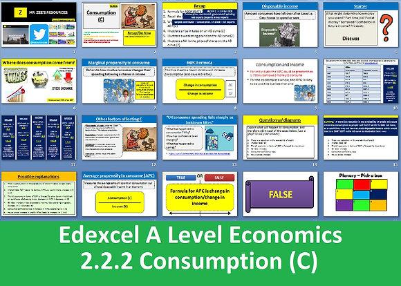 2.2.2 Consumption (C) - Theme 2 Edexcel A Level Economics