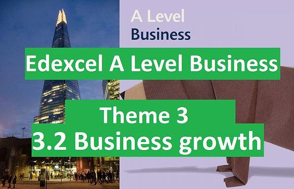 Edexcel A Level Business Theme 3 - 3.2 Business growth