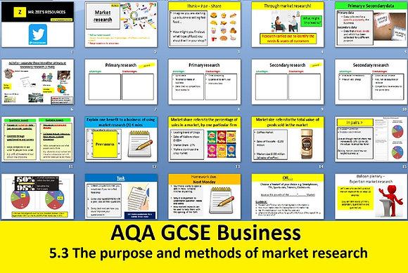 AQA GCSE Business 9-1 - 5.3 Market research