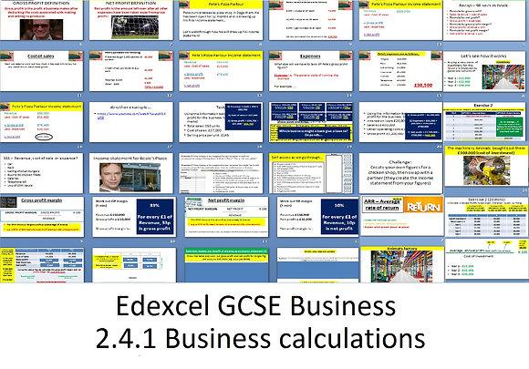 Edexcel GCSE Business - Theme 2 - 2.4.1 Business calculations
