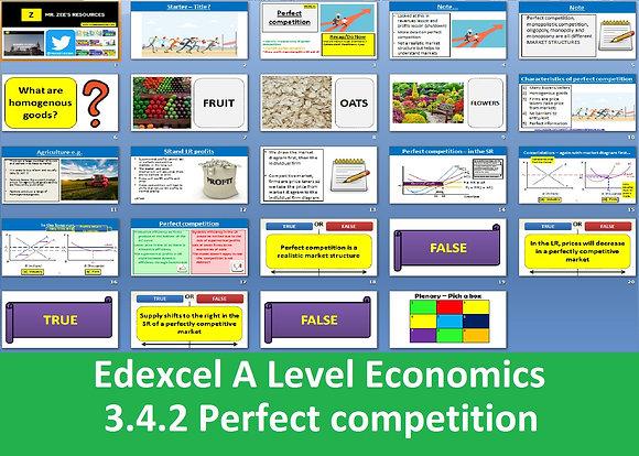 3.4.2 Perfect competition - Theme 3 Edexcel A Level Economics