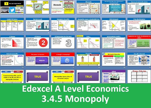 3.4.5 Monopoly - Theme 3 Edexcel A Level Economics