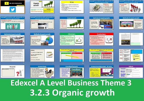 Edexcel A Level Business Theme 3 - 3.2.3 Organic growth