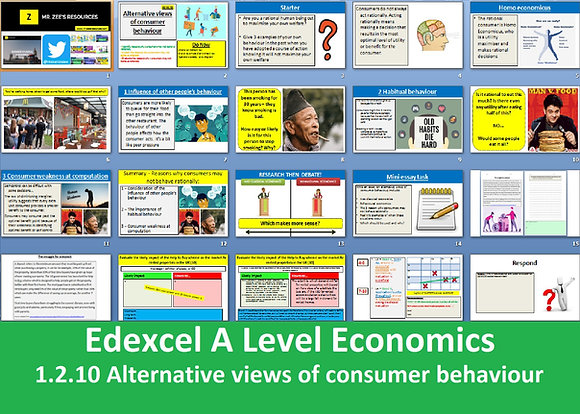 1.2.10 Alternative views of consumer behaviour - Theme 1 Edexcel A Level Econ