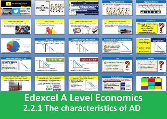 2.2.1 The characteristics of aggregate demand (AD) - Theme 2 Edexcel A Level Eco
