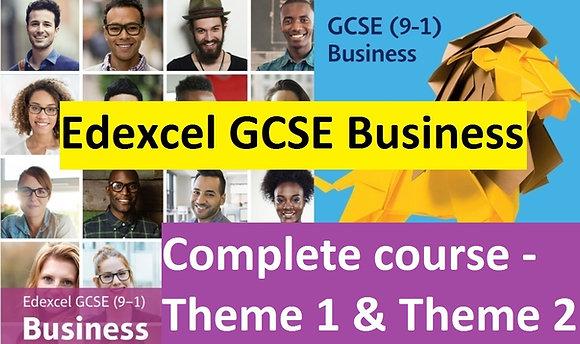 Edexcel GCSE Business - Theme 1 & Theme 2 (COMPLETE COURSE)