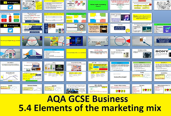 AQA GCSE Business 9-1 - 5.4 The elements of the marketing mix