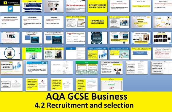 AQA GCSE Business 9-1 - 4.2 Recruitment and selection of employees