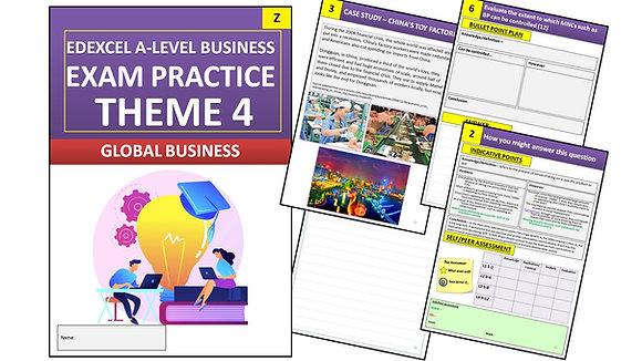 Edexcel A Level Business Theme 4 Exam Practice (Interactive Book)