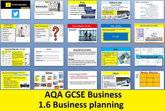 AQA GCSE Business 9-1 - 1.6 Business planning