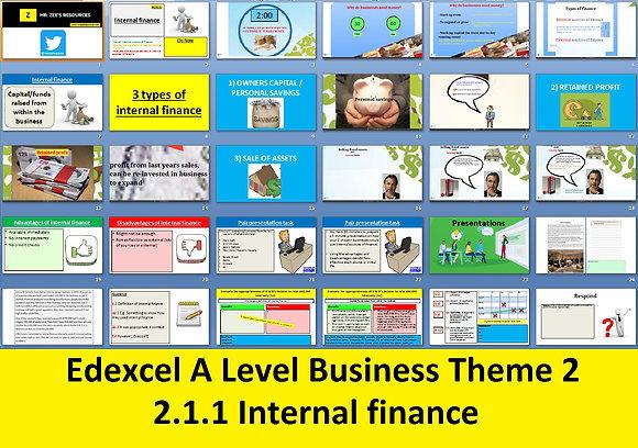 2.1.1 Internal finance - Theme 2 Edexcel A Level Business