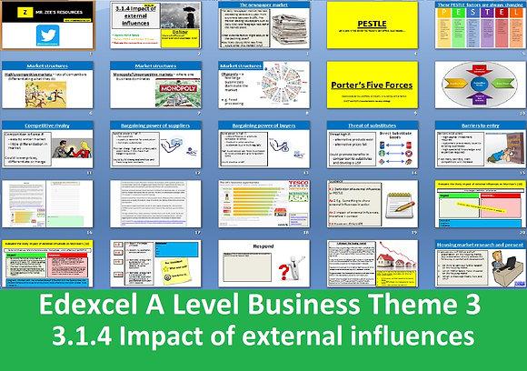Edexcel A Level Business Theme 3 - 3.1.4 Impact of external influences