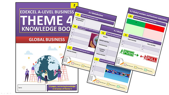 Edexcel A Level Business Theme 4 Interactive Knowledge Book