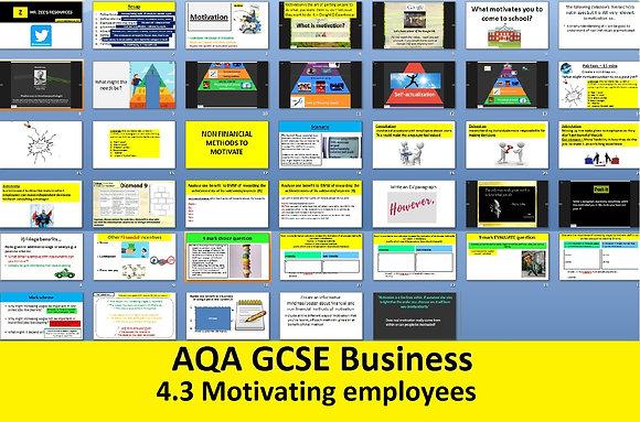 AQA GCSE Business 9-1 - 4.3 Motivating employees