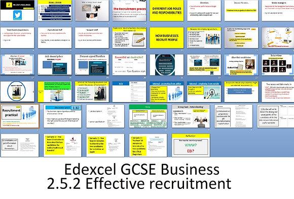 Edexcel GCSE Business - Theme 2 - 2.5.2 Effective recruitment