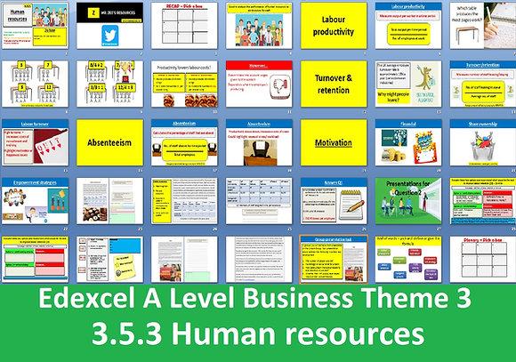 3.5.3 Human resources - Theme 3 Edexcel A Level Business