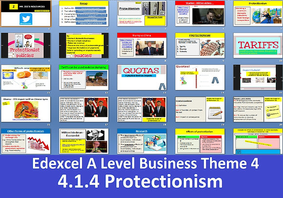 Edexcel A Level Business Theme 4 - 4.1.4 Protectionism