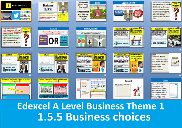 1.5.5 Business choices (opportunity cost) - Theme 1 Edexcel A Level Business
