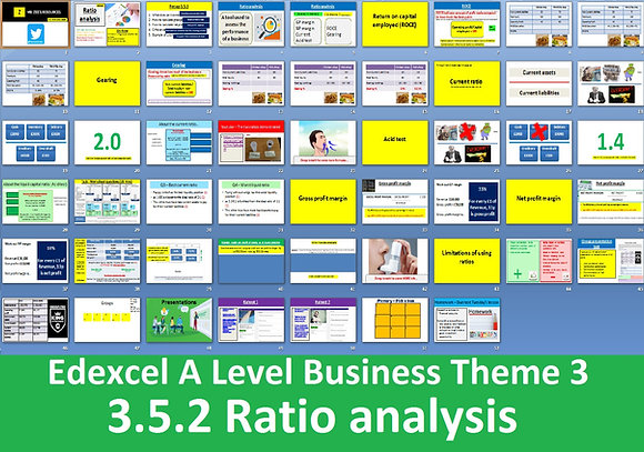 3.5.2 Ratio analysis - Theme 3 Edexcel A Level Business