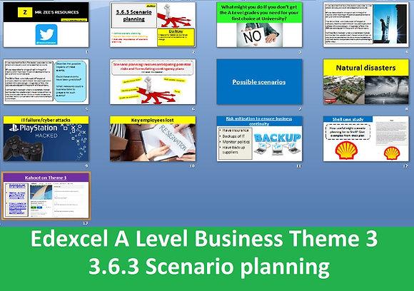 3.6.3 Scenario planning - Theme 3 Edexcel A Level Business