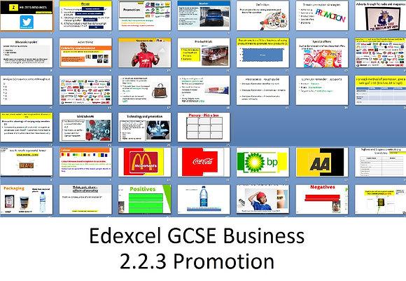 Edexcel GCSE Business - Theme 2 - 2.2.3 Promotion