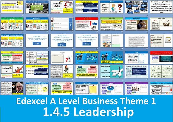 1.4.5 Leadership - Theme 1 Edexcel A Level Business