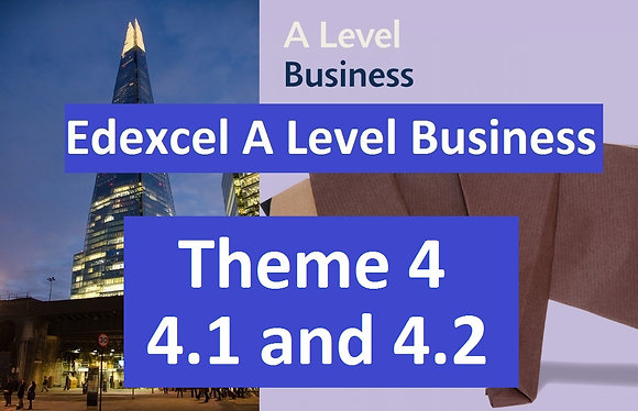 Edexcel A Level Business Theme 4 - 4.1 and 4.2 (half course)