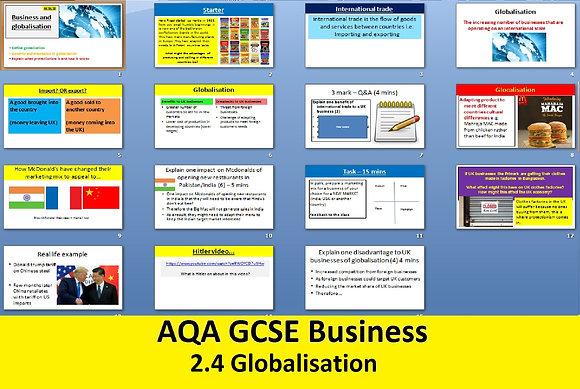 AQA GCSE Business 9-1 - 2.4 Globalisation